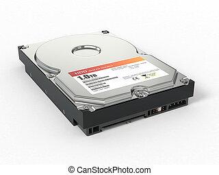 HDD. ATA Hard disk drive. 3d - HDD. ATA Hard disk drive on...