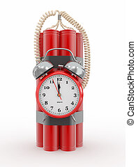 Time bomb with alarm clock detonator Dynamit 3d - Countdown...
