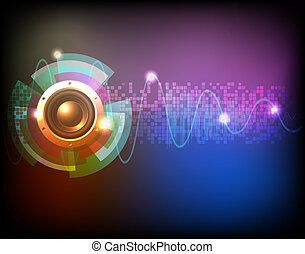Neon music background vector
