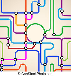 subway map seamless - Colorful background of a subway...