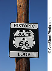 The traffic sign Historic route 66