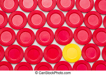 Checkers/Poker Chips - Brightly colored gaming chips against...