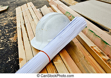 Hard Hat and Plans