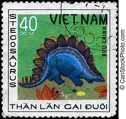 VIETNAM - CIRCA 1978 Stegosaurus - VIETNAM - CIRCA 1978: A...