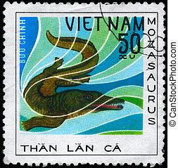 VIETNAM - CIRCA 1978 Mosasaurus - VIETNAM - CIRCA 1978: A...