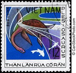 VIETNAM - CIRCA 1978 Plesiosaurus - VIETNAM - CIRCA 1978: A...