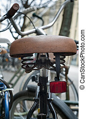 bicycle saddle with reflective - bicycle saddle with red...