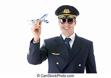 Airman - Aviator sunglasses in on a white background