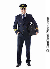 Airman - The man in the form of a pilot on a white...