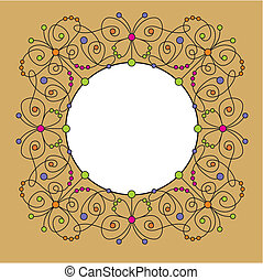 decorative frame with butterfly