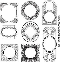 secession vector frames set