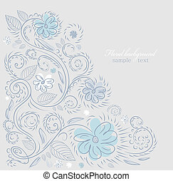 Design ornate background - Summer floral design vector...