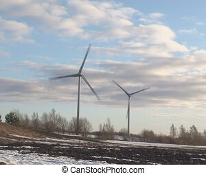 wind energy snow melting