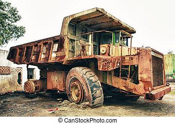 Historic old large dumper truck