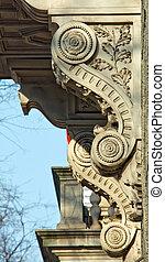 Classicistic corbels - Decorative corbels on a classicistic...