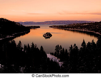 Emerald Bay sunset, Lake Tahoe California