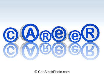 career in blue circles