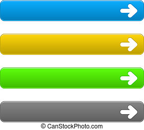 Set download buttons - Vector set simple buttons with arrow...