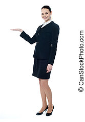 Full length of businesswoman showing copyspace