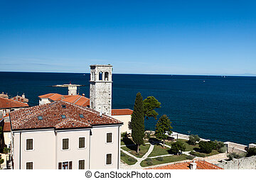 Porec Attractions - View from the church tower of Porec...