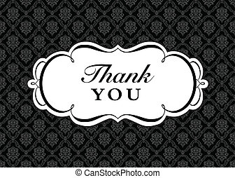 Vector Ornate Thank You Frame