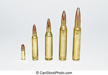 Bullets - row of bullets of increasing caliber