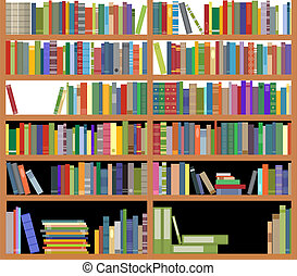 Bookshelf with books - Bookshelf with ancient and modern...