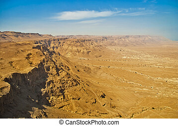 Ruins of Masada fortress, Israel - Judean Desert is from the...