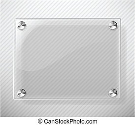 Glass Plate on White Background