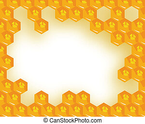 the vector  honeycomb with honey