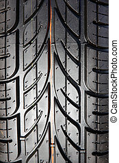 Tread tires black closeup