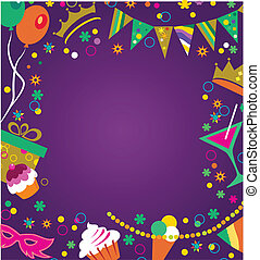 party invitation - colorful party invitation , vector...