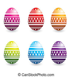 colorful easter eggs - set of colorful easter eggs, vector...
