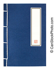 Ancient book blank cover - Blue chinese ancient book with...