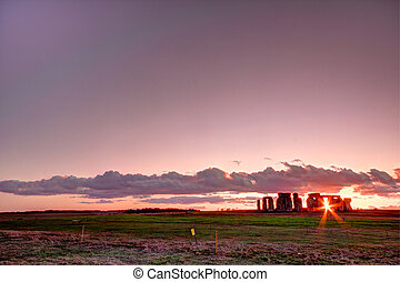 Stonehenge an ancient monument in the Wiltshire countryside...