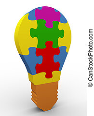 3d puzzle bulb