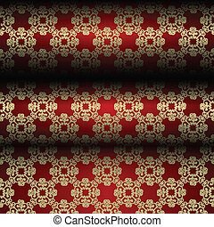 Red and gold material background