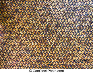 handcraft weave texture bambool wicker