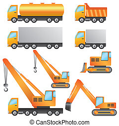 Construction machinery - Set of construction machinery on...