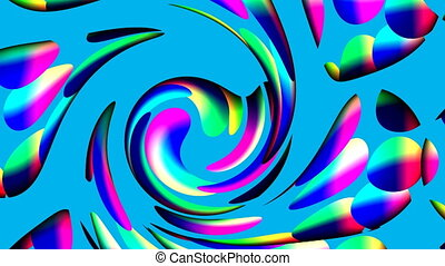 Spiral from color circles