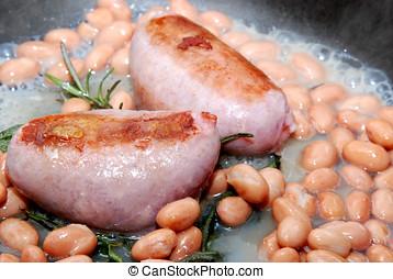 Tasty pork sausages