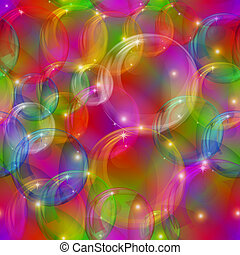 Bubbles seamless motley - Bubbles background, colorful...