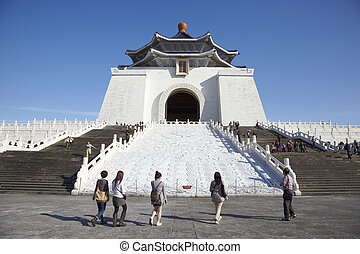 Taipei,Taiwan, February, 12th, 2012:Chiang Kai-shek Memorial...