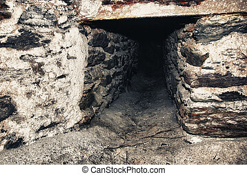stary, kopalnia, tunel