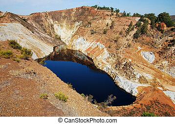 Red lake, acid mine drainage