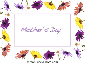 Mother day. - Mother day with flowers.