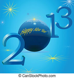 2013 New Year symbols with Earth