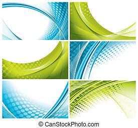 modern, elegant business cards - set of modern, elegant...