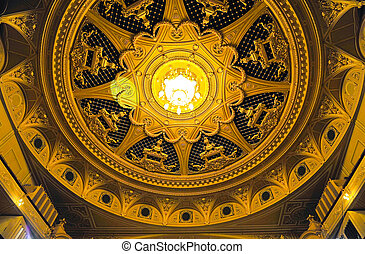 Dome of the Kyiv Opera house - View to Dome of the Kyiv...
