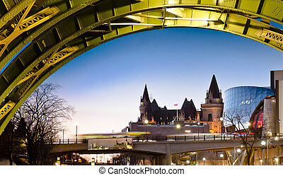 Colorful Chateau - The Fairmont Chateau Laurier Hotel seen...